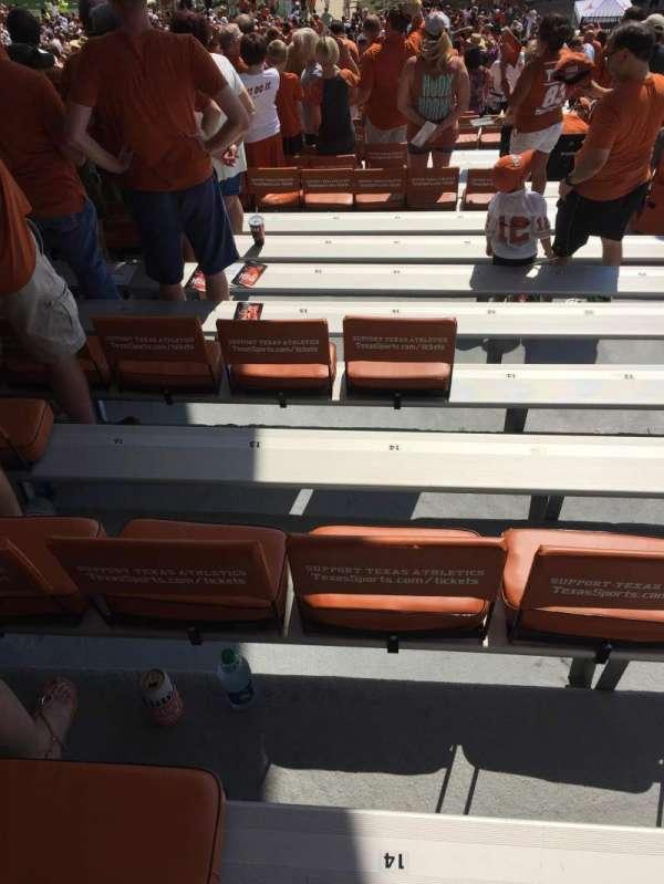 Texas Memorial Stadium, secção: 1, fila: 68, lugar: 14