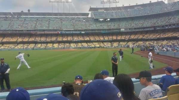 Dodger Stadium, secção: 53FD, fila: D, lugar: 5