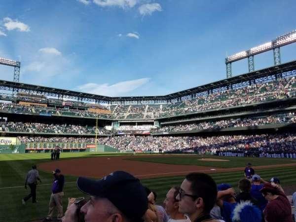 Coors Field, secção: 143, fila: 7, lugar: 1