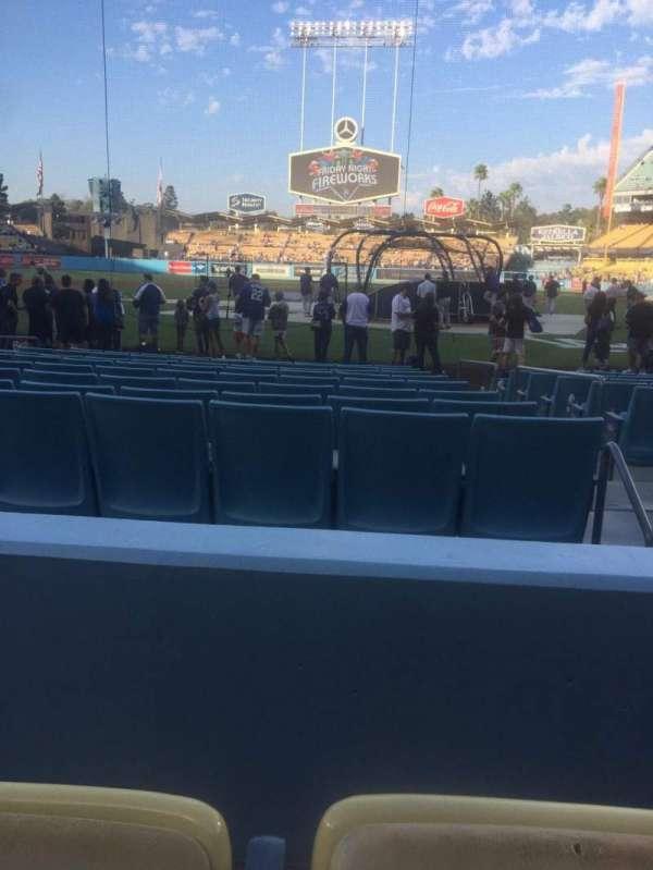 Dodger Stadium, secção: 5FD, fila: B, lugar: 8