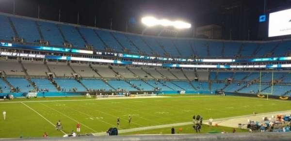 Bank of America Stadium, secção: 349, fila: 1, lugar: 3