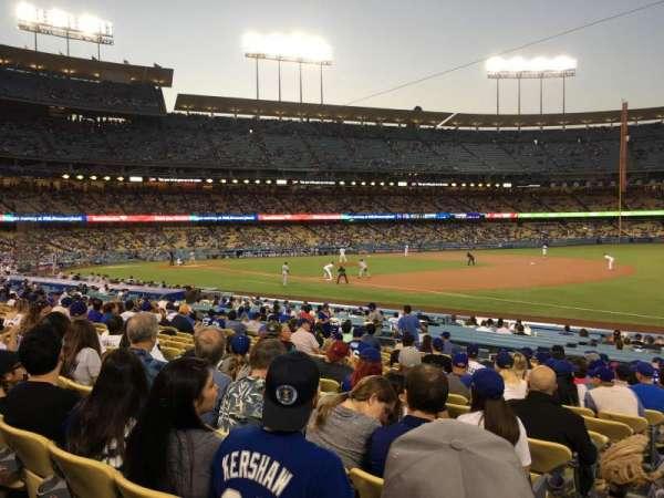Dodger Stadium, secção: 36FD, fila: P, lugar: 1