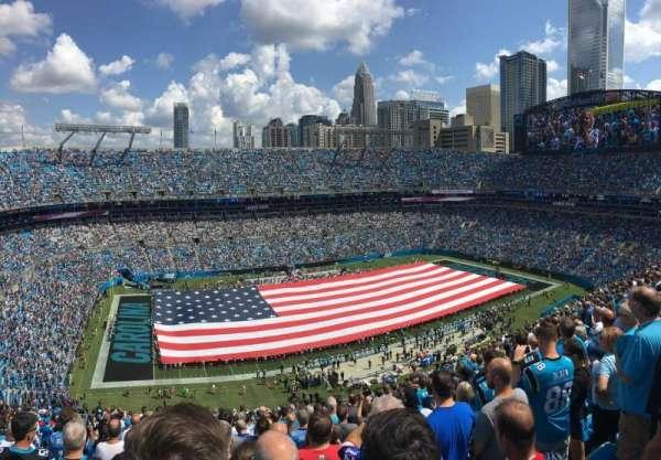 Bank of America Stadium, secção: 545, fila: 21, lugar: 20