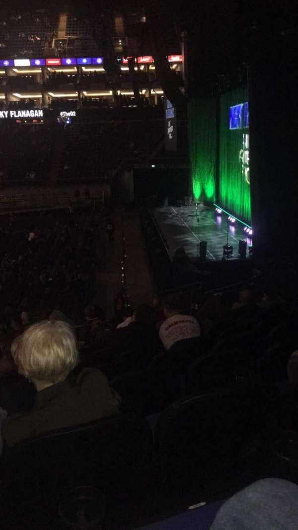The O2 Arena, secção: 113, fila: T, lugar: 396