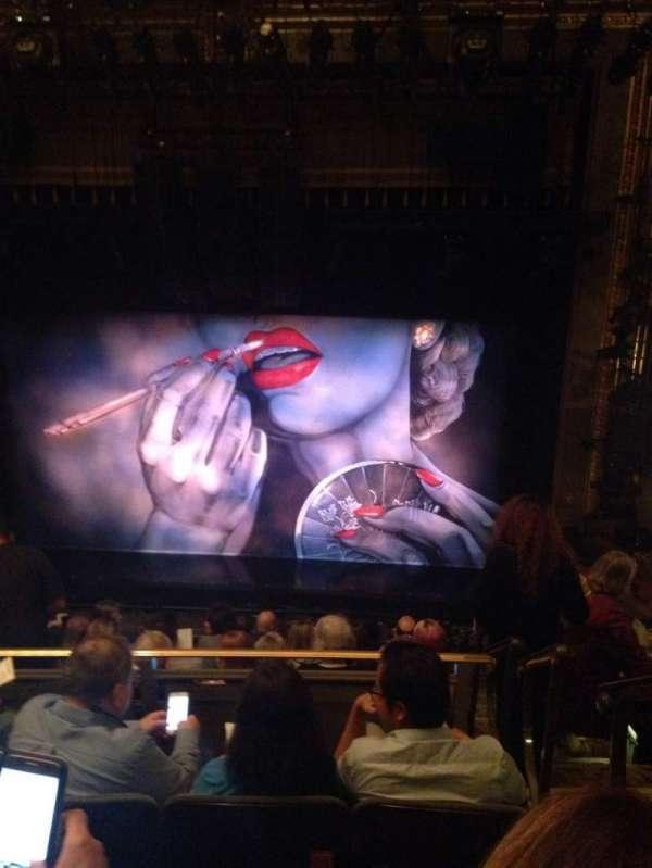 Nederlander Theatre, secção: Mezzanine C, fila: K, lugar: 101