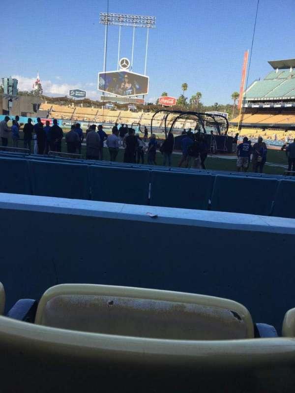 Dodger Stadium, secção: 7FD, fila: B, lugar: 4