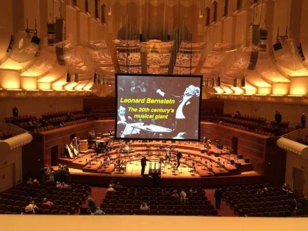 Davies Symphony Hall, secção: Loge, fila: A, lugar: 3