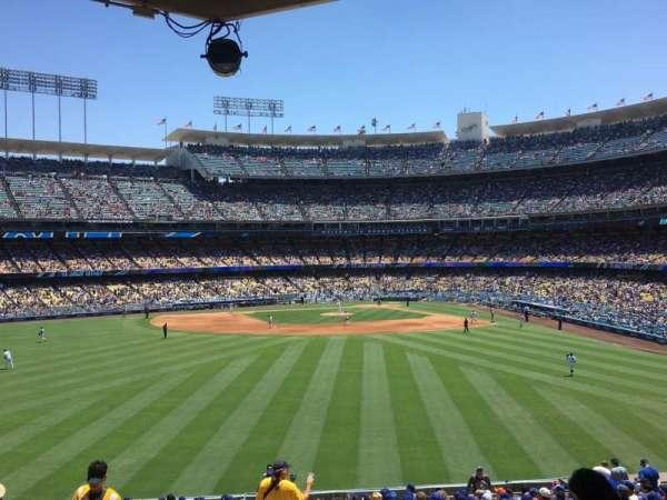 Dodger Stadium, secção: 305PL, fila: Z, lugar: 1
