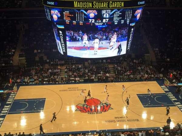Madison Square Garden, secção: 313, fila: 1, lugar: 5