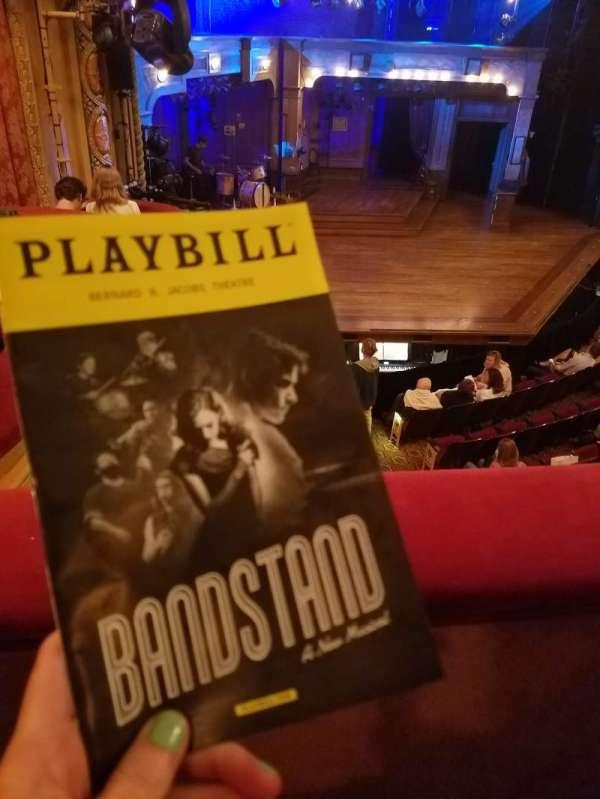 Bernard B. Jacobs Theatre, secção: Mezz, fila: A, lugar: 27
