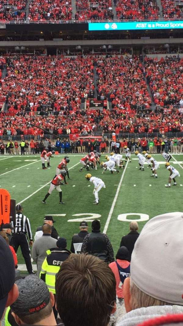Ohio Stadium, secção: 24aa, fila: 5, lugar: 21