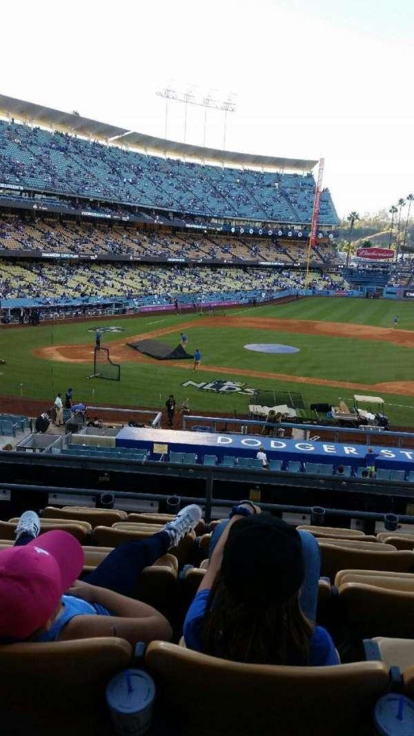 Dodger Stadium, secção: 123LG, fila: F, lugar: 4