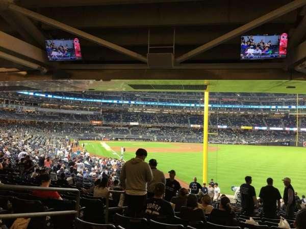Yankee Stadium, secção: 108, fila: 19, lugar: 18