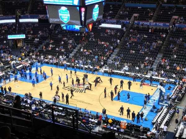 Chesapeake Energy Arena, secção: 321, fila: M, lugar: 13
