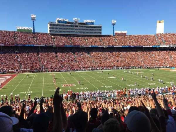 Cotton Bowl, secção: 26, fila: 47, lugar: 13