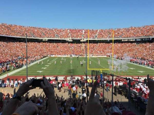 Cotton Bowl, secção: 34, fila: 29, lugar: 4