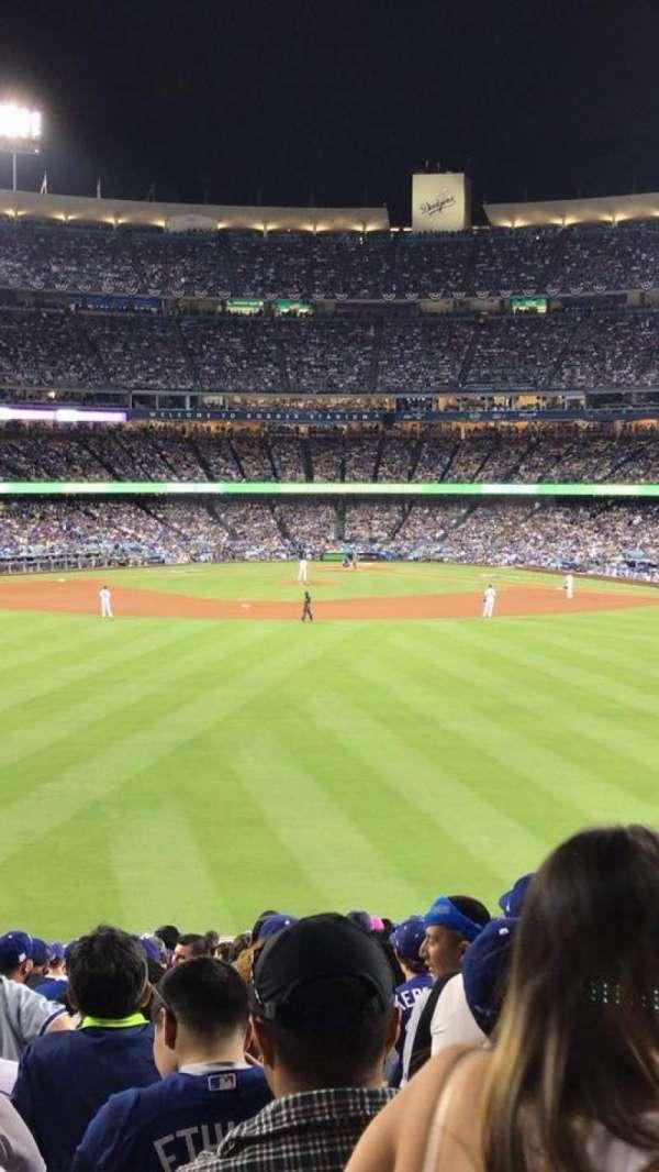 Dodger Stadium, secção: 302PL, fila: K, lugar: 5