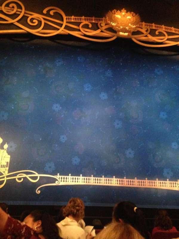 Broadhurst Theatre, secção: Orchestra C, fila: F, lugar: 103
