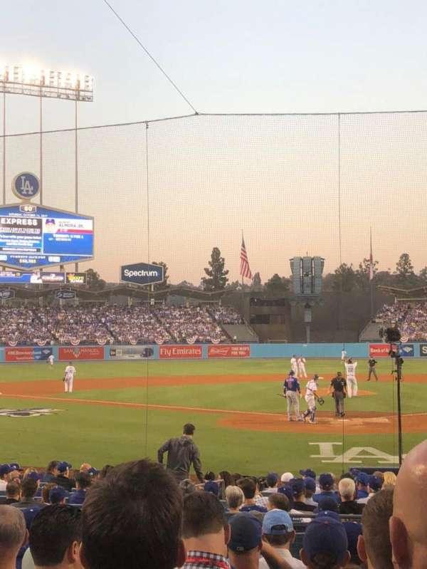 Dodger Stadium, secção: 5FD, fila: J, lugar: 2