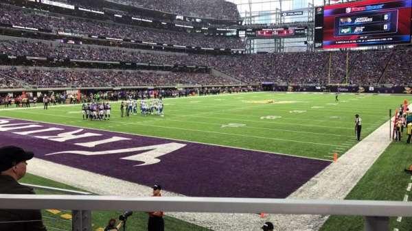 U.S. Bank Stadium, secção: 116, fila: 6, lugar: 10