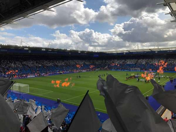 King Power Stadium, secção: P3, fila: Z, lugar: 189