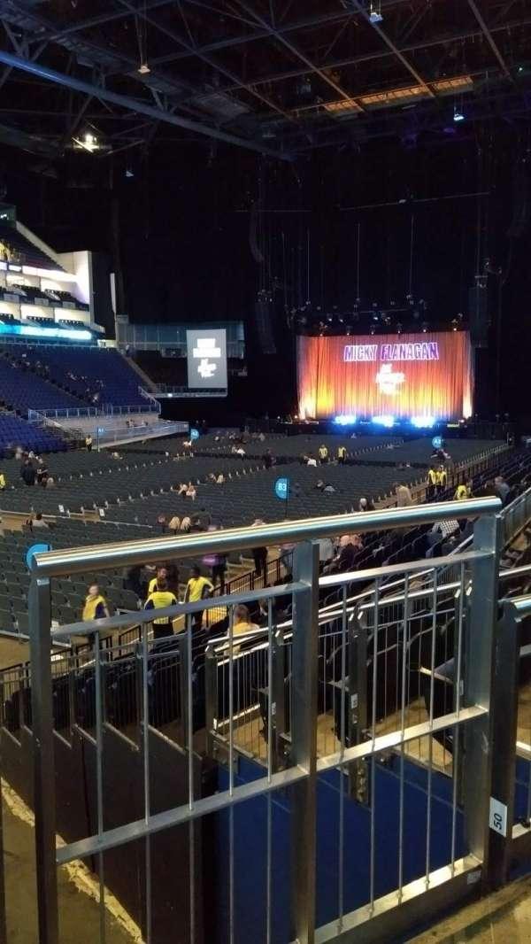 The O2 Arena, secção: 109, fila: P, lugar: 263
