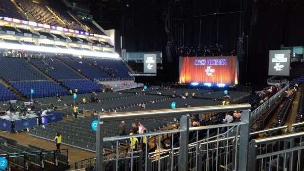 The O2 Arena, secção: 109, fila: P, lugar: 264