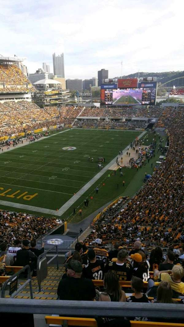 Heinz Field, secção: 527, fila: H, lugar: 1 and 2