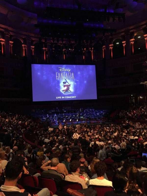 Royal Albert Hall, secção: Stalls J, fila: 10, lugar: 68