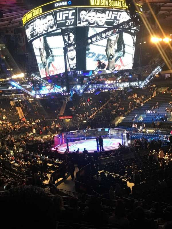 Madison Square Garden, secção: 110, fila: 18, lugar: 18