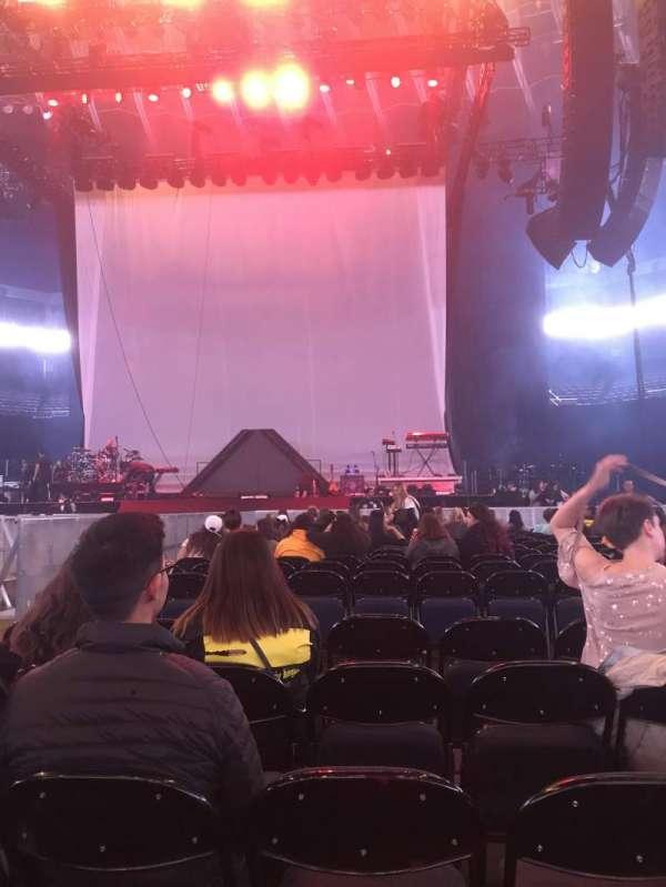 Oracle Arena, secção: C, fila: 17, lugar: 5