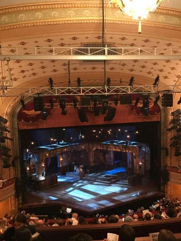 Bernard B. Jacobs Theatre, secção: Mezzanine Center, fila: H, lugar: 113