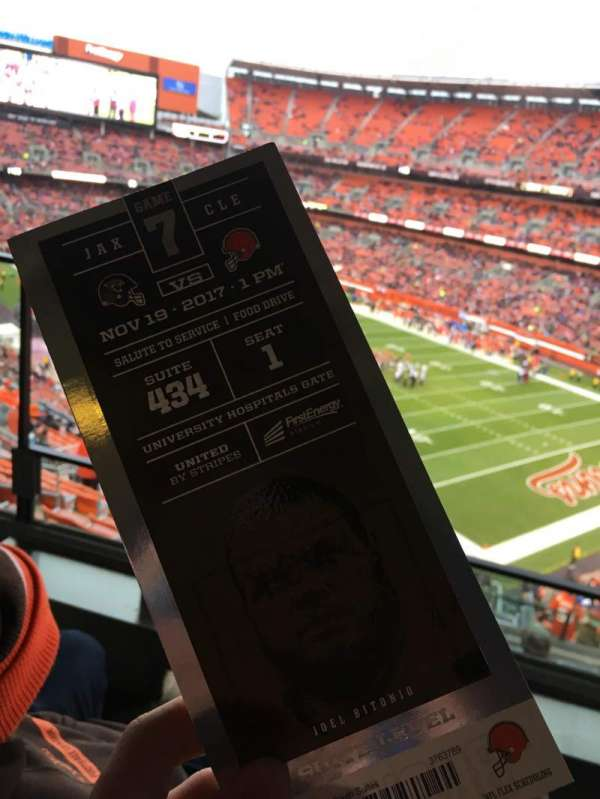 FirstEnergy Stadium, secção: Suite 434, lugar: 1