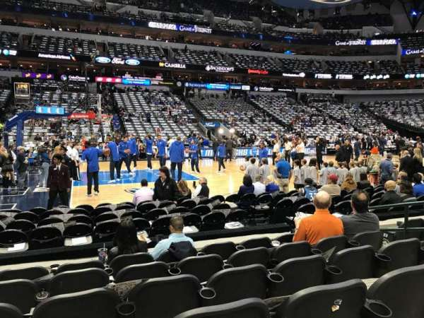 American Airlines Center, secção: 108, fila: F, lugar: 7