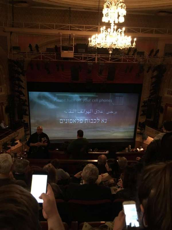 Ethel Barrymore Theatre, secção: Rear Mezzanine C, fila: F, lugar: 102