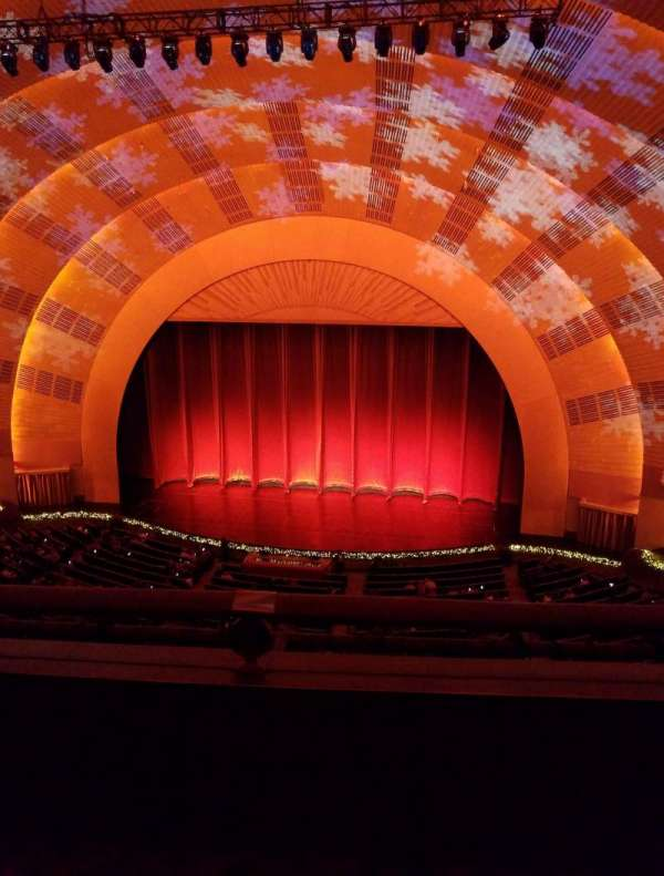Radio City Music Hall, secção: 3rd Mezzanine 3, fila: B, lugar: 307