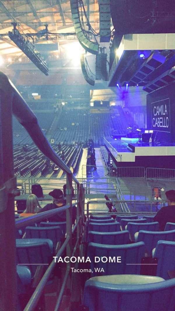 Tacoma Dome, secção: 9A, fila: 19, lugar: 15