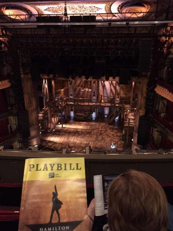 CIBC Theatre, secção: Balcony RC, fila: D, lugar: 412