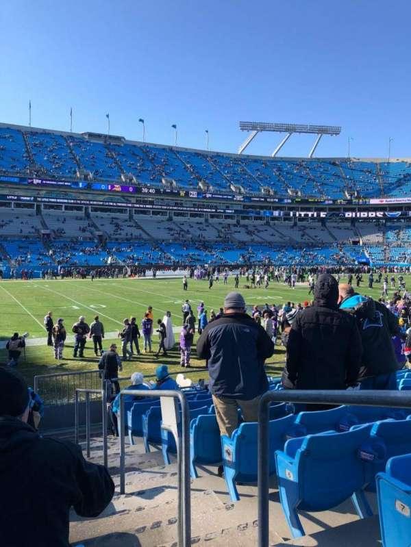 Bank of America Stadium, secção: 116, fila: 9, lugar: 1