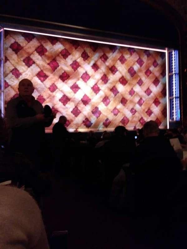 Brooks Atkinson Theatre, secção: Orchestra L, fila: L, lugar: 1