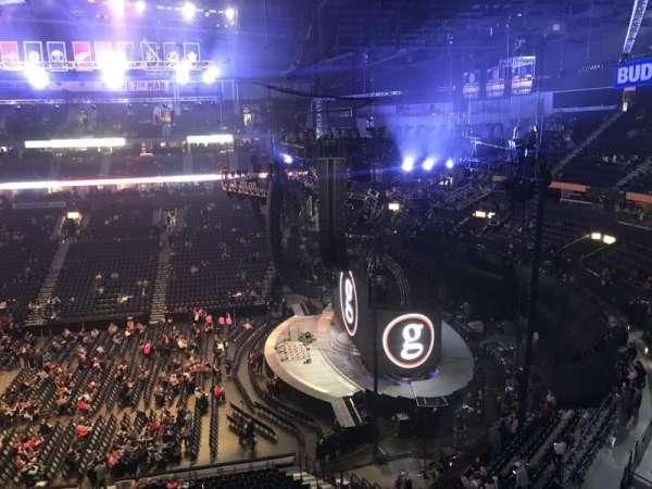Bridgestone Arena, secção: 311, fila: A, lugar: 8