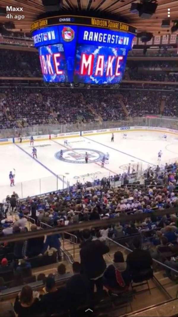 Madison Square Garden, secção: 209, fila: 1, lugar: 10