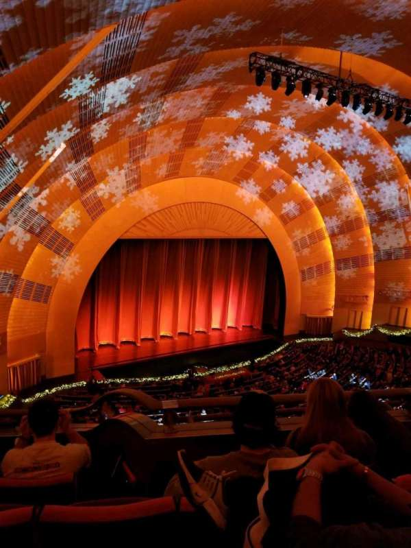 Radio City Music Hall, secção: 3rd Mezzanine 7, fila: b, lugar: 705