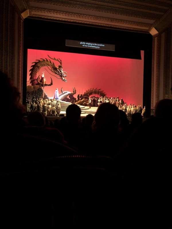 Civic Opera House, secção: Orchestra Center, fila: N, lugar: 10