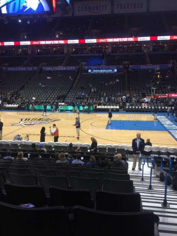 Chesapeake Energy Arena, secção: 105, fila: L, lugar: 1