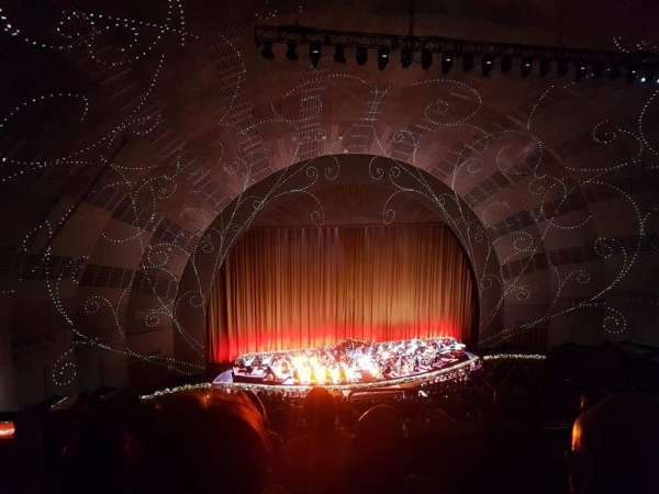 Radio City Music Hall, secção: 3rd Mezzanine 6, fila: D, lugar: 601