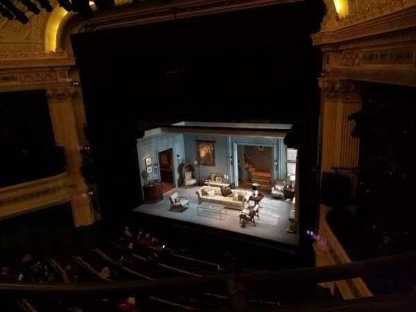 Hudson Theatre, secção: Balcony R, fila: A, lugar: 10