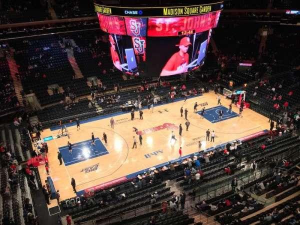 Madison Square Garden, secção: 312, fila: 1, lugar: 1