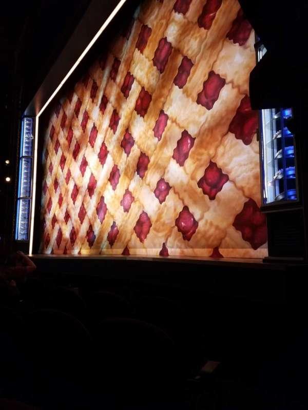 Brooks Atkinson Theatre, secção: Orchestra R, fila: B, lugar: 14