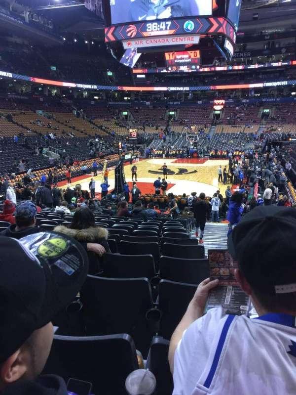Scotiabank Arena, secção: 102, fila: 16, lugar: 1